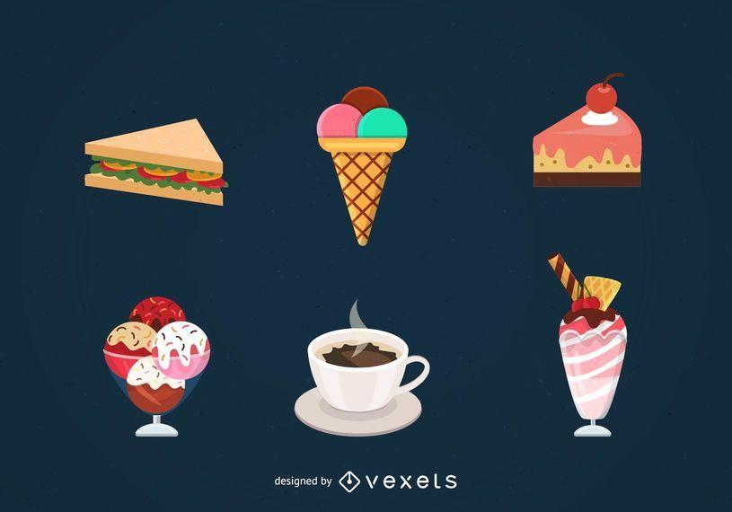 Lebensmittel-Vektor festgelegt
