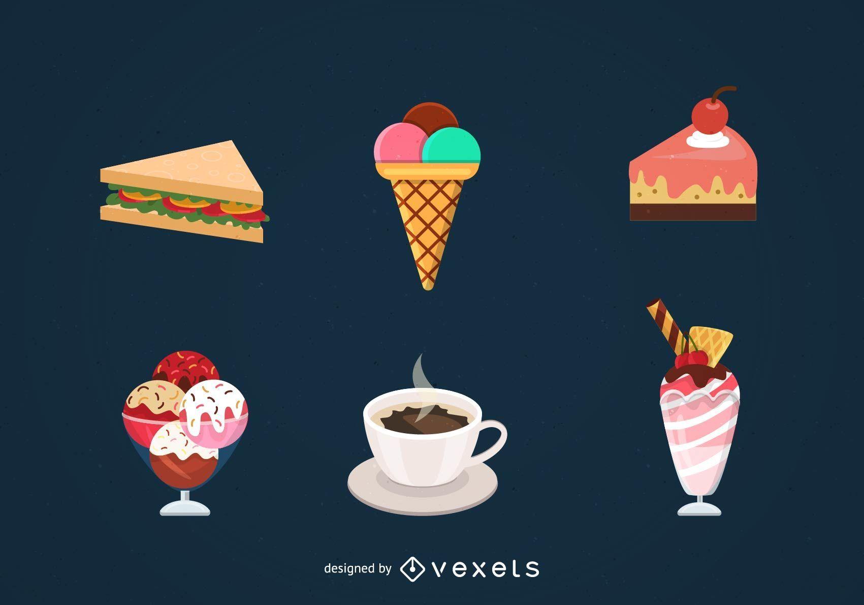 Food vector set