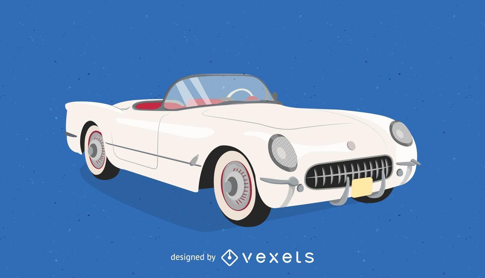 1953 Corvette Background