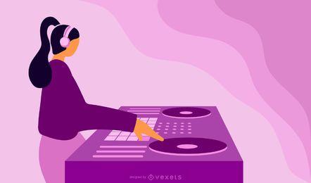 Plataforma giratória abstrata de DJ