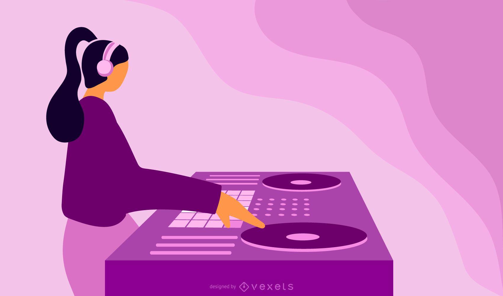 Tocadiscos DJ abstracto