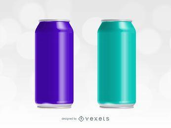 Bebida energética vector puede