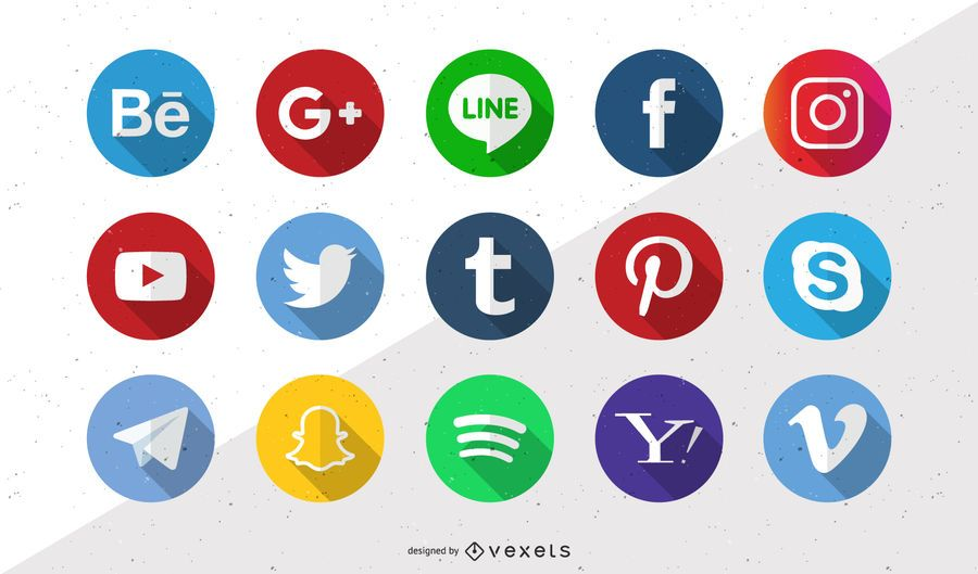 Novos ícones de vetor de mídia social