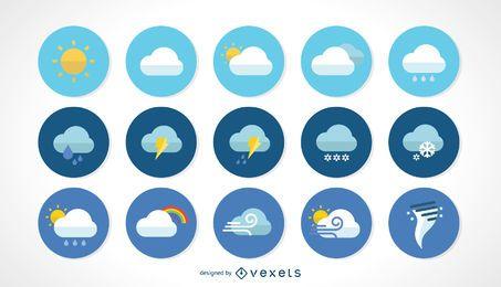 Iconos del vector de clima