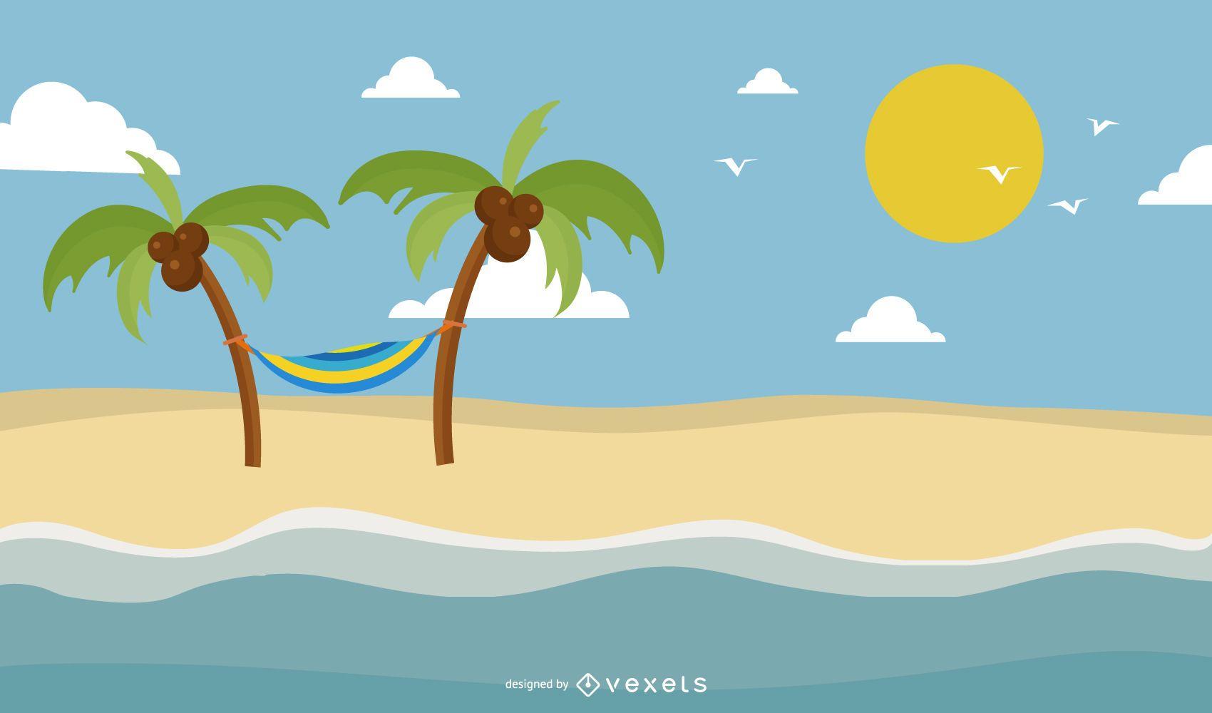 Ilustração vetorial de verão