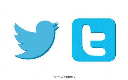 2 ícones do Twitter impressionantes