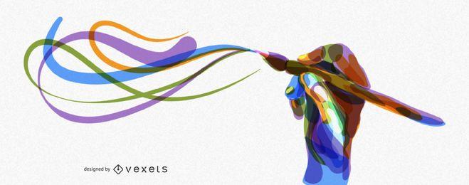 Künstlerische Abdeckung für bildende Kunst und Illustration