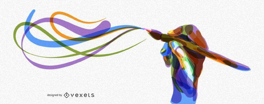 Capa artística para belas artes e ilustrações