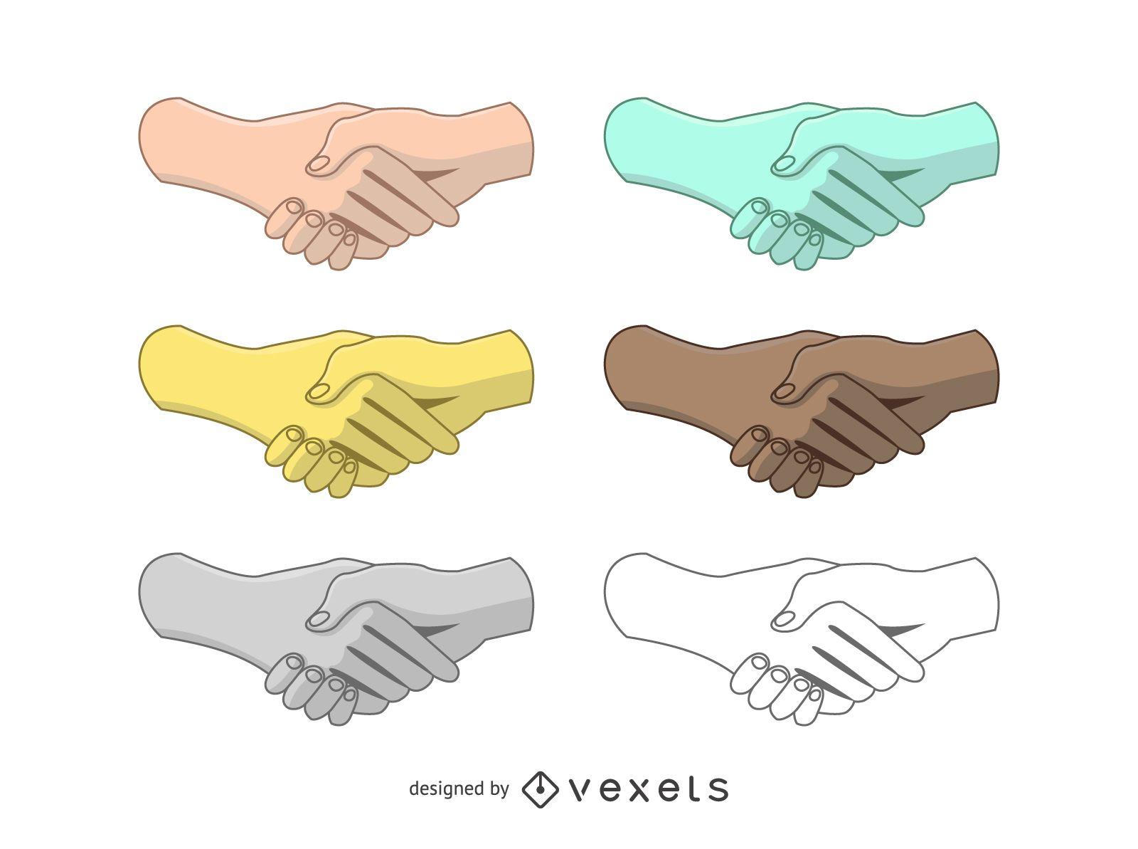 Conjunto de vectores de apretón de manos