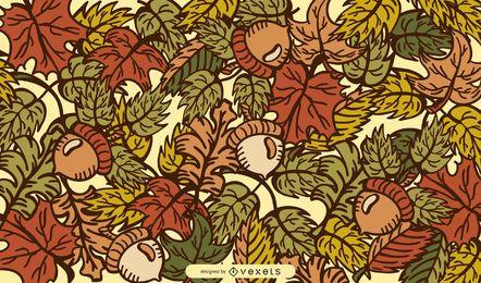 Ilustración de vector de hojas de otoño