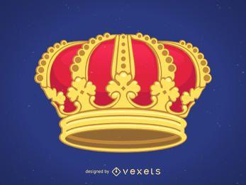 Vetor coroa real