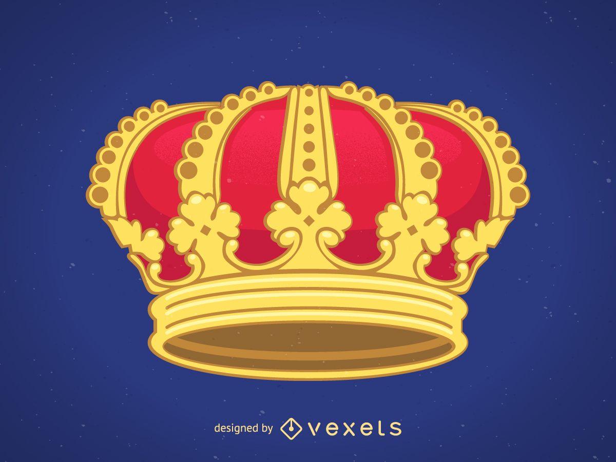 Vector de corona real