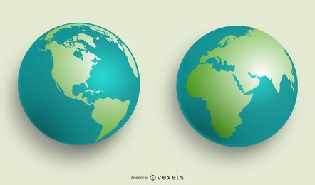 VECTOR MUNDIAL GLOBES