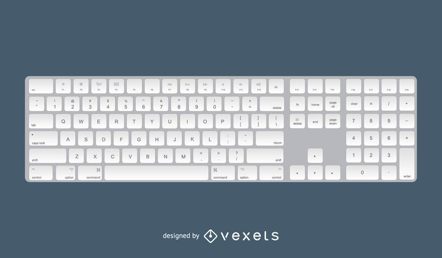 Apple Keyboard 3D Design