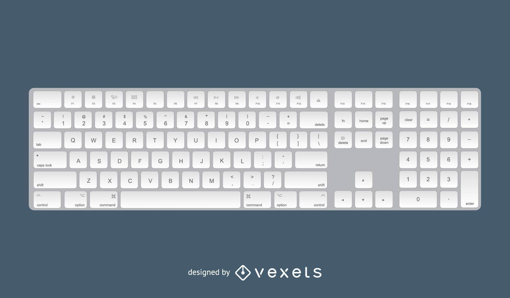 Diseño 3D del teclado de Apple