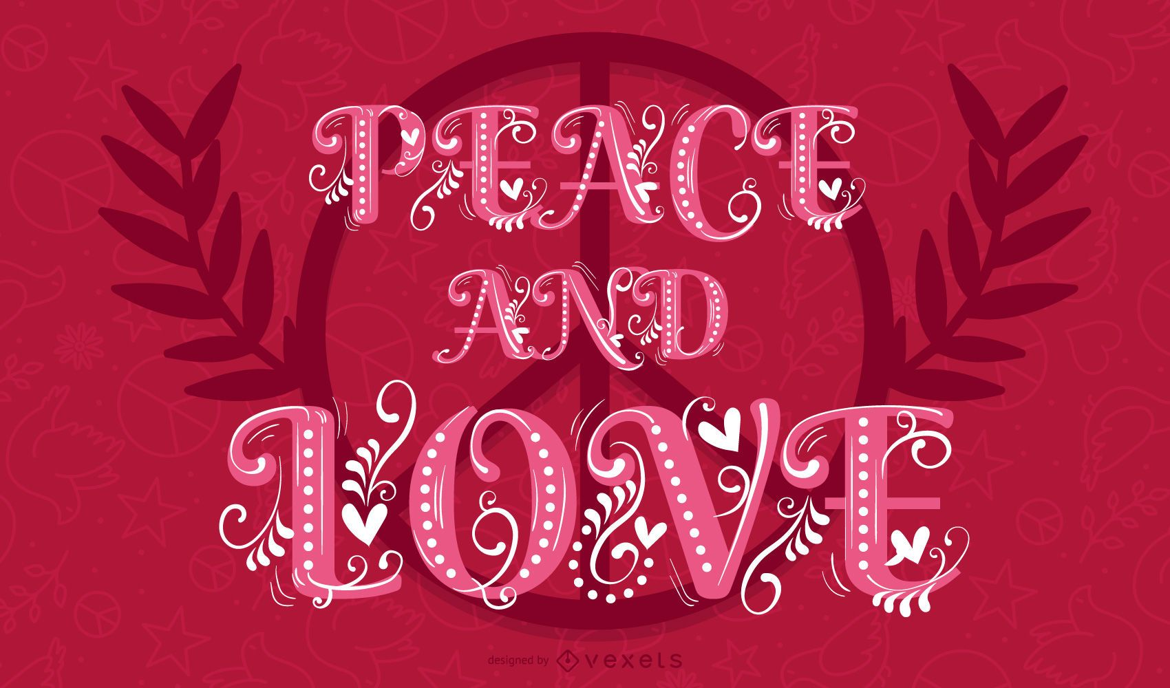 Heart of peace and love