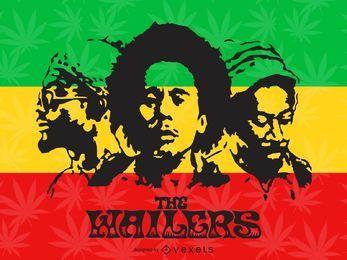 O cartaz dos Wailers