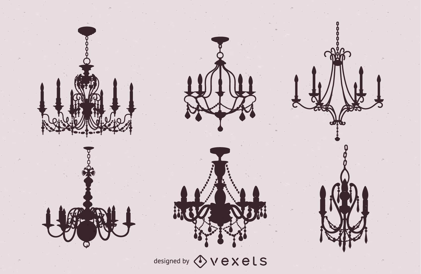 Seis candelabros vintage