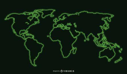 Mapa do mundo legal