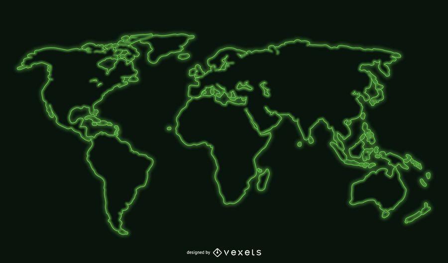 Mapa del mundo fresco