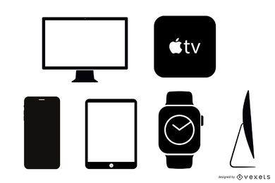 40 iconos vectoriales para productos de Apple