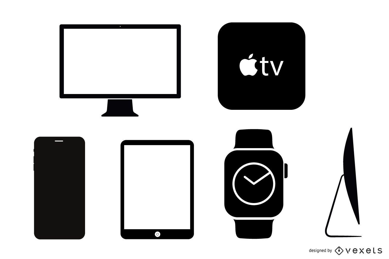 40 iconos vectoriales para productos Apple
