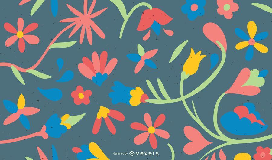 Coloridos antecedentes florales