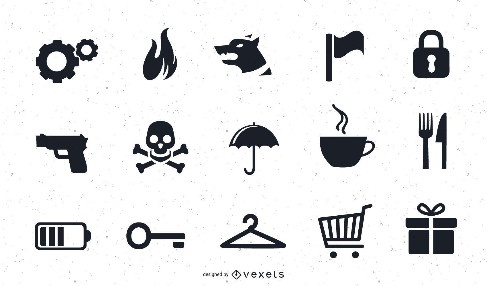 Varios iconos vectoriales arte