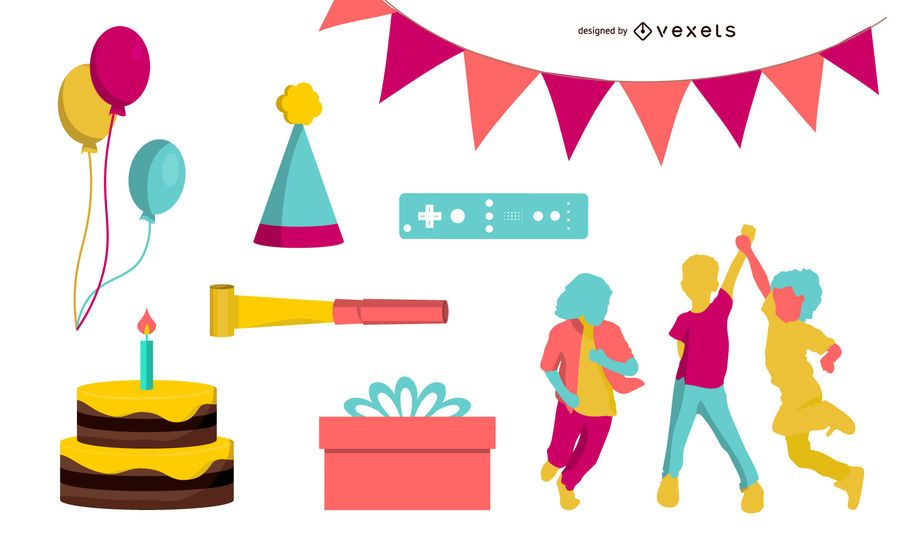 Vector Party Stuff & Kids Rock Star