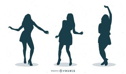 46 Girls Dancing Silhouettes