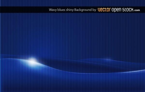 Wavy Shiny Blue Background