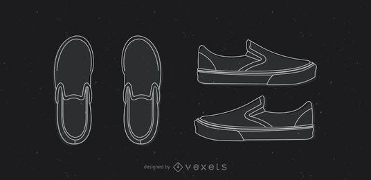 Zapato clásico con plantilla Vans
