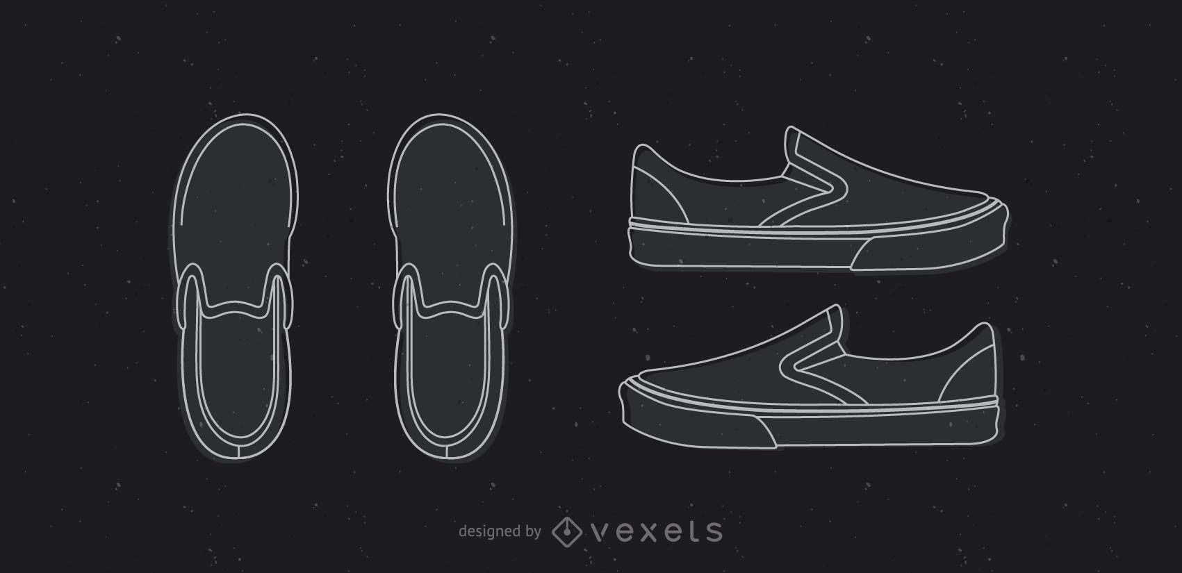 vans classic template shoe vector download. Black Bedroom Furniture Sets. Home Design Ideas
