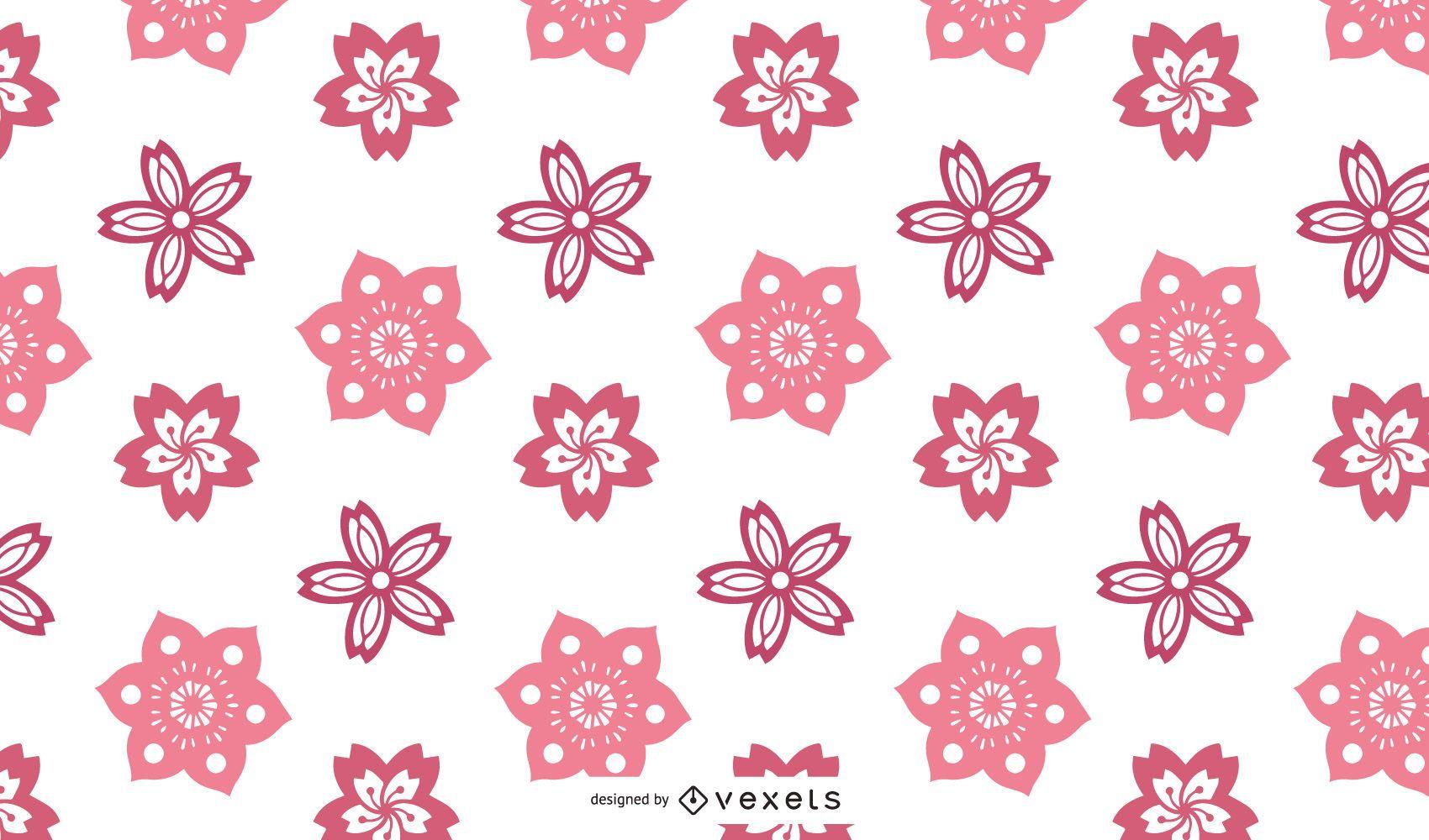 Vector diseño de flor de cerezo