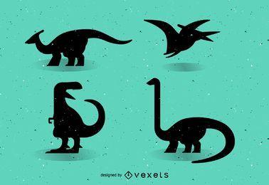 Dinossauros de vetor de silhueta