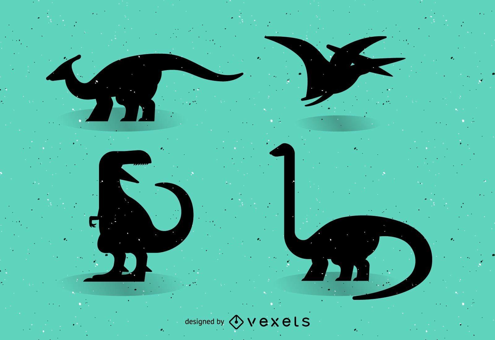Dinosaurios vectoriales silueta