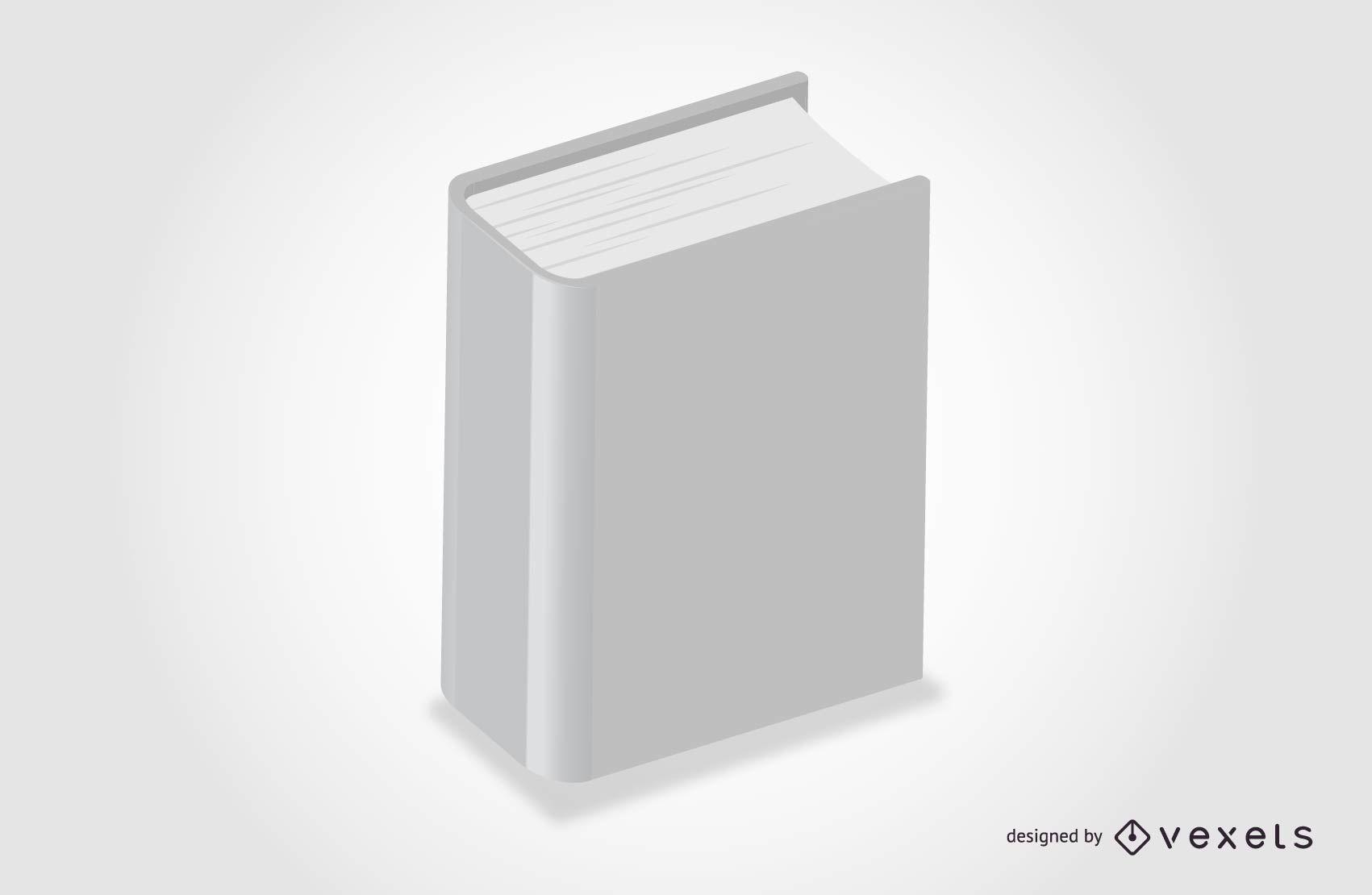 Modelo de livro vazio 3D
