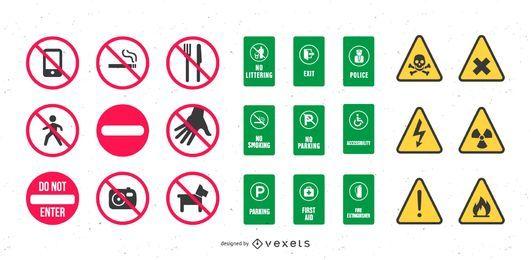 Vector de señales de seguridad y salud
