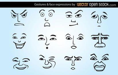 Gestos y expresiones faciales.