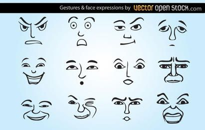 Gestures and face expressions