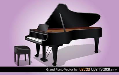 Vetor de piano de cauda