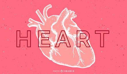Vector del corazon humano