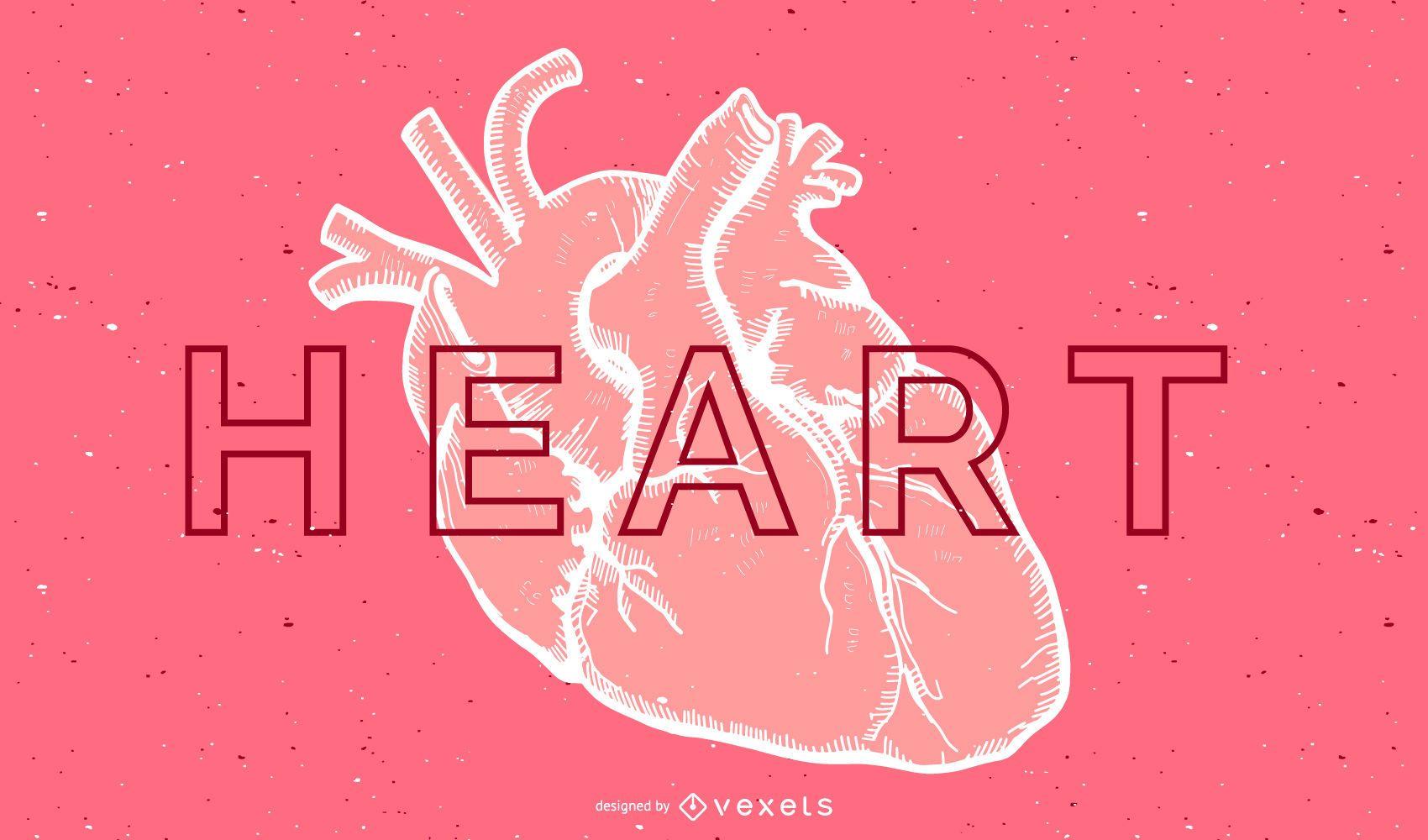 Vector de coraz?n humano