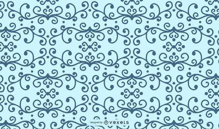 Wirbel Blumenmuster Form