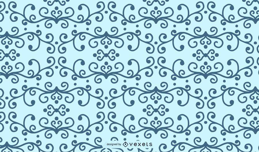 Swirl Floral Pattern Shape