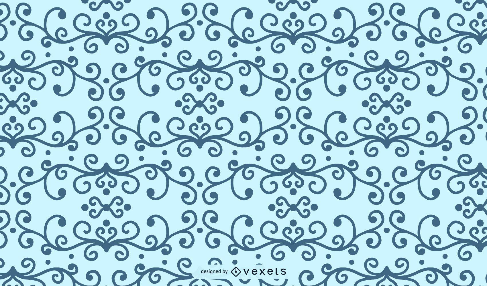 Forma de patrón floral remolino