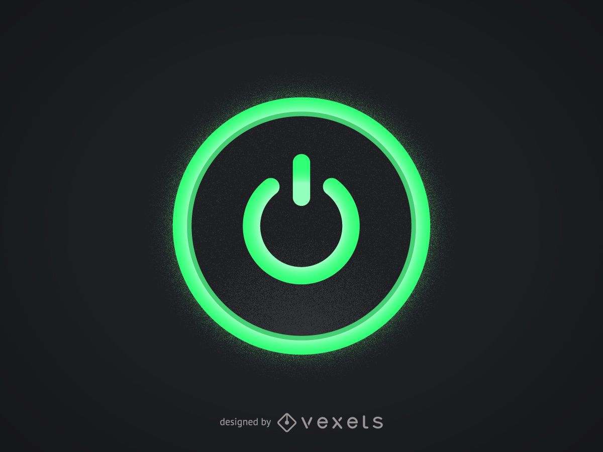 Computer vector graphics to download green computer power button biocorpaavc Choice Image