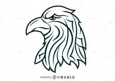 Cabeza de águila tribal vector