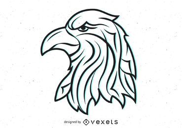 Vector Tribal Eagle Head