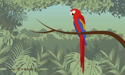 Vector Artístico Guacamaya Bird